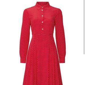 Draper James Red Polka Dot Dress